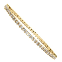 Princess cut SANIA Diamond Tennis Bracelet - yellow