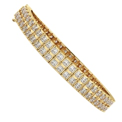 STEFFI Doubles Princess cut Tennis Bracelet - yellow