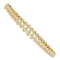 WILLIAMS Round cut Bezel set Diamond Tennis Bracelet - yellow