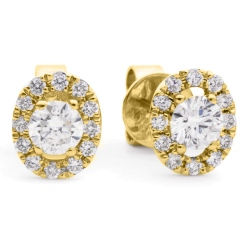 HER148 Round Designer Diamond Earrings - yellow