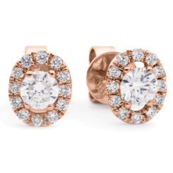 HER148 Round Designer Diamond Earrings - rose