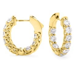 HER156 Round cut Designer Diamond Drop Earrings - yellow