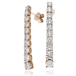 HER210 Round cut Diamond Journey Earrings - rose
