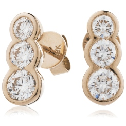 HER216 Trilogy Journey Diamond Earrings - rose