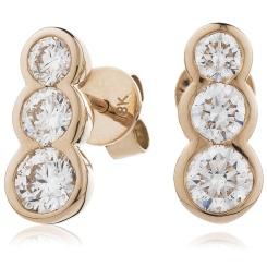 HER216 Trilogy Journey Diamond Earrings - rose