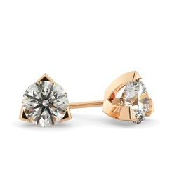 HER21 Round Stud Diamond Earrings - rose