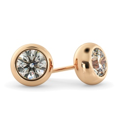HER26 Round Stud Diamond Earrings - rose
