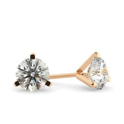 HER34 Round Diamond Stud Earrings - rose