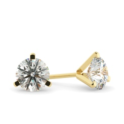 HER34 Round Diamond Stud Earrings - yellow