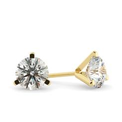 HER34 Round Diamond Stud Earrings - yellow