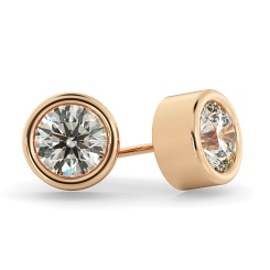 HER37 Round Diamond Stud Earrings - rose