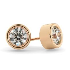 HER37 Round Diamond Stud Earrings - rose