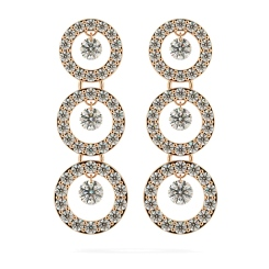 HERDR71 Round Designer Diamond Earrings - rose