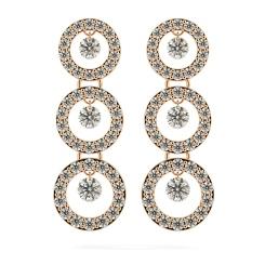 HERDR71 Round Designer Diamond Earrings - rose