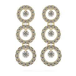 HERDR71 Round Designer Diamond Earrings - yellow