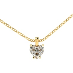 HPH7 Heart Solitaire Diamond Pendant - yellow