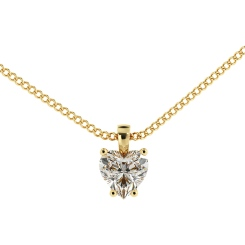 HPH7 Heart Solitaire Diamond Pendant - yellow