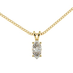 HPM51 Marquise Solitaire Pendant - yellow