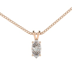 HPM51 Marquise Solitaire Pendant - rose