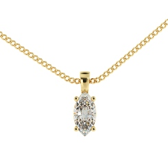 HPM55 Marquise Solitaire Pendant - yellow