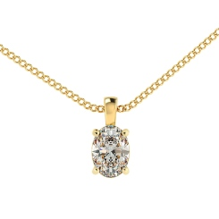 HPO53 Oval Solitaire Pendant - yellow