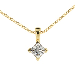 HPP38 Princess Solitaire Pendant - yellow