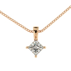 HPP41 Princess Solitaire Pendant - rose