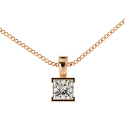 HPP44 Princess Solitaire Pendant - rose