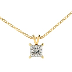 HPP49 Princess Solitaire Pendant - yellow