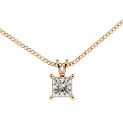 HPP49 Princess Solitaire Pendant - rose
