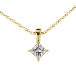 HPP52 Princess Solitaire Pendant - yellow