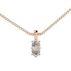 HPP56 Princess Solitaire Pendant - rose