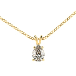 HPPE50 Pear Solitaire Pendant - yellow