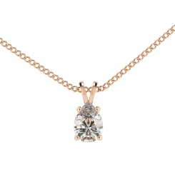 HPPE50 Pear Solitaire Pendant - rose