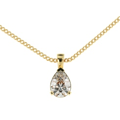 HPPE54 Pear Solitaire Pendant - yellow