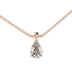 HPPE54 Pear Solitaire Pendant - rose