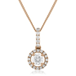 HPR150 Round cut Designer Diamond Pendant - rose