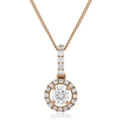 HPR150 Round cut Designer Diamond Pendant - rose