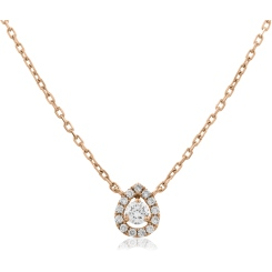 HPR152 Round cut Designer Diamond Pendant - rose