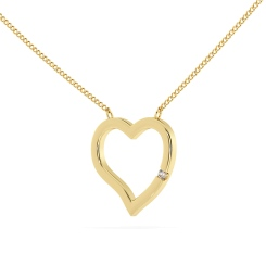 HPR20 Round Heart Shape Diamond Pendant - yellow