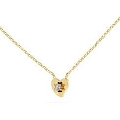 HPR21 Round Heart Shape Diamond Pendant - yellow