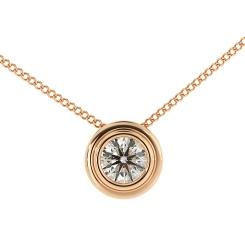 HPR3 Round Solitaire Diamond Pendant - rose