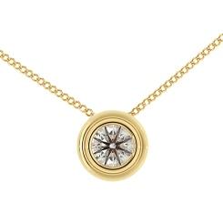 HPR3 Round Solitaire Diamond Pendant - yellow