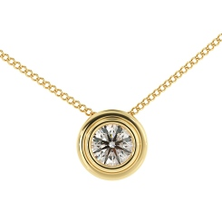 HPR3 Round Solitaire Diamond Pendant - yellow
