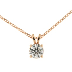 HPR35 Round Solitaire Pendant - rose