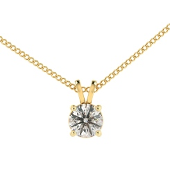 HPR35 Round Solitaire Pendant - yellow