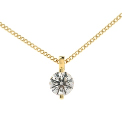 HPR36 Round Solitaire Pendant - yellow