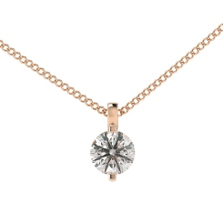 HPR36 Round Solitaire Pendant - rose