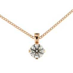 HPR39 Round Solitaire Pendant - rose