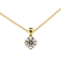 HPR39 Round Solitaire Pendant - yellow